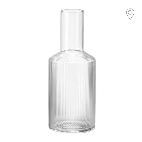 Decanter Ripple, untinted glass - Nordic Design Home