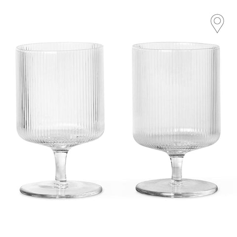 Wine / juice glass Ripple, untinted glass, double set