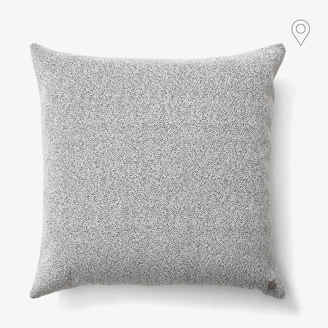 Decorative pillow Bouclé SC29, 65x65cm, ivory and granite gray