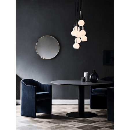 Dining table In Between, special size Ø80-150cm, different metal leg and wood finishes - Nordic Design Home
