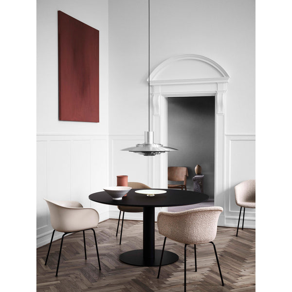 Dining table In Between, special size Ø80-150cm, different metal leg and wood finishes
