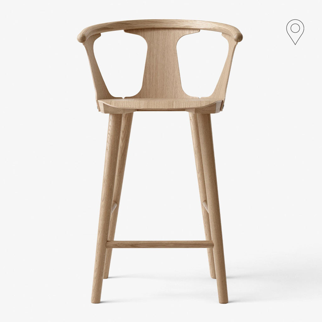 Bar stool In Between SK9, seat height 75cm, different finishes - Nordic Design Home