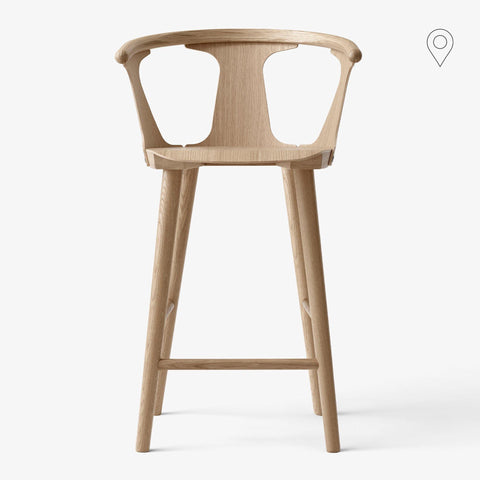 Bar stool In Between SK9, seat height 75cm, different finishes