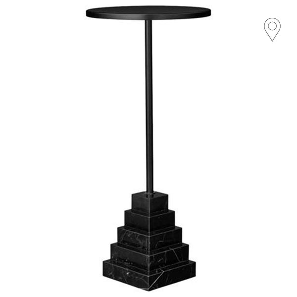 Side table Solum low, black - Nordic Design Home