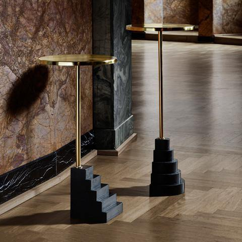 Side table Solum low, brass AYTM Furniture - Nordic Design Home