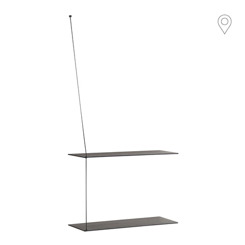 Wall shelf Stedge small 60cm, black