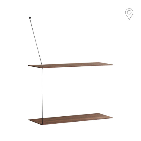 Wall shelf Stedge small 60cm, smoked oak