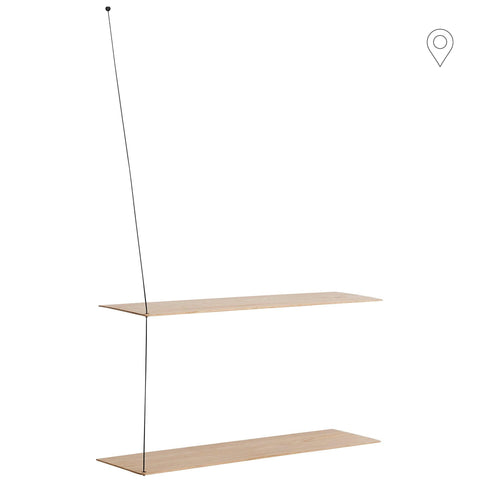 Wall shelf Stedge large 80, oak