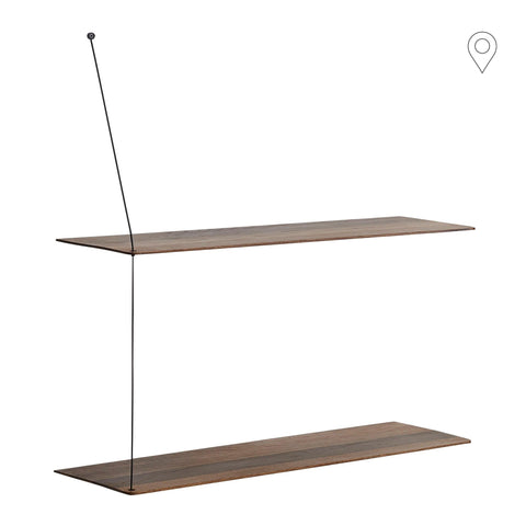 Wall shelf Stedge large 80, smoked oak