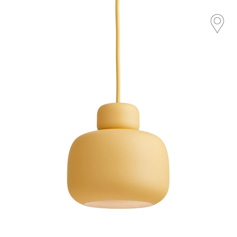 Ceiling lamp Stone small, yellow