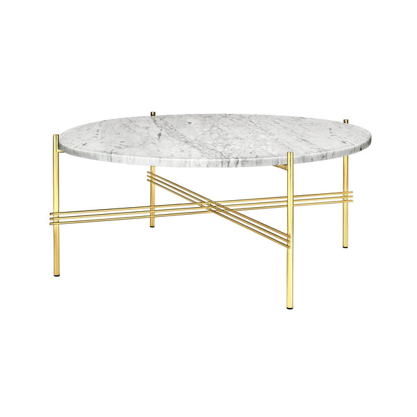 Round coffee table TS, different frame and surface finishes, Ø80