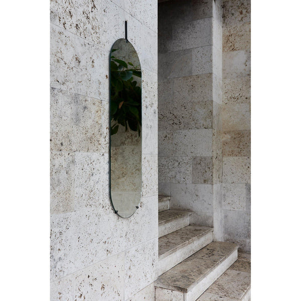 Ovaalne Peegel Wall Mirror, 133x44cm, must