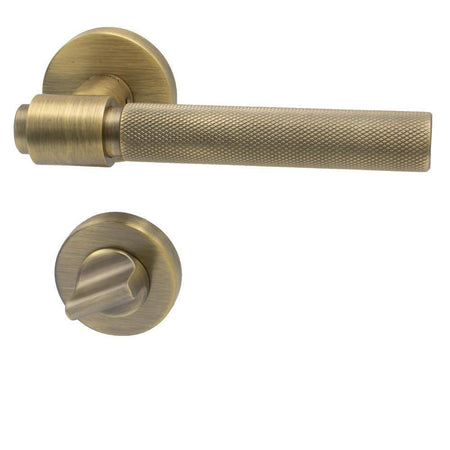 Door lock Round, antique bronze