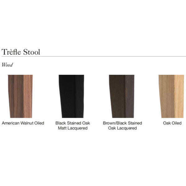 Pink Tréfle, different wood finishes