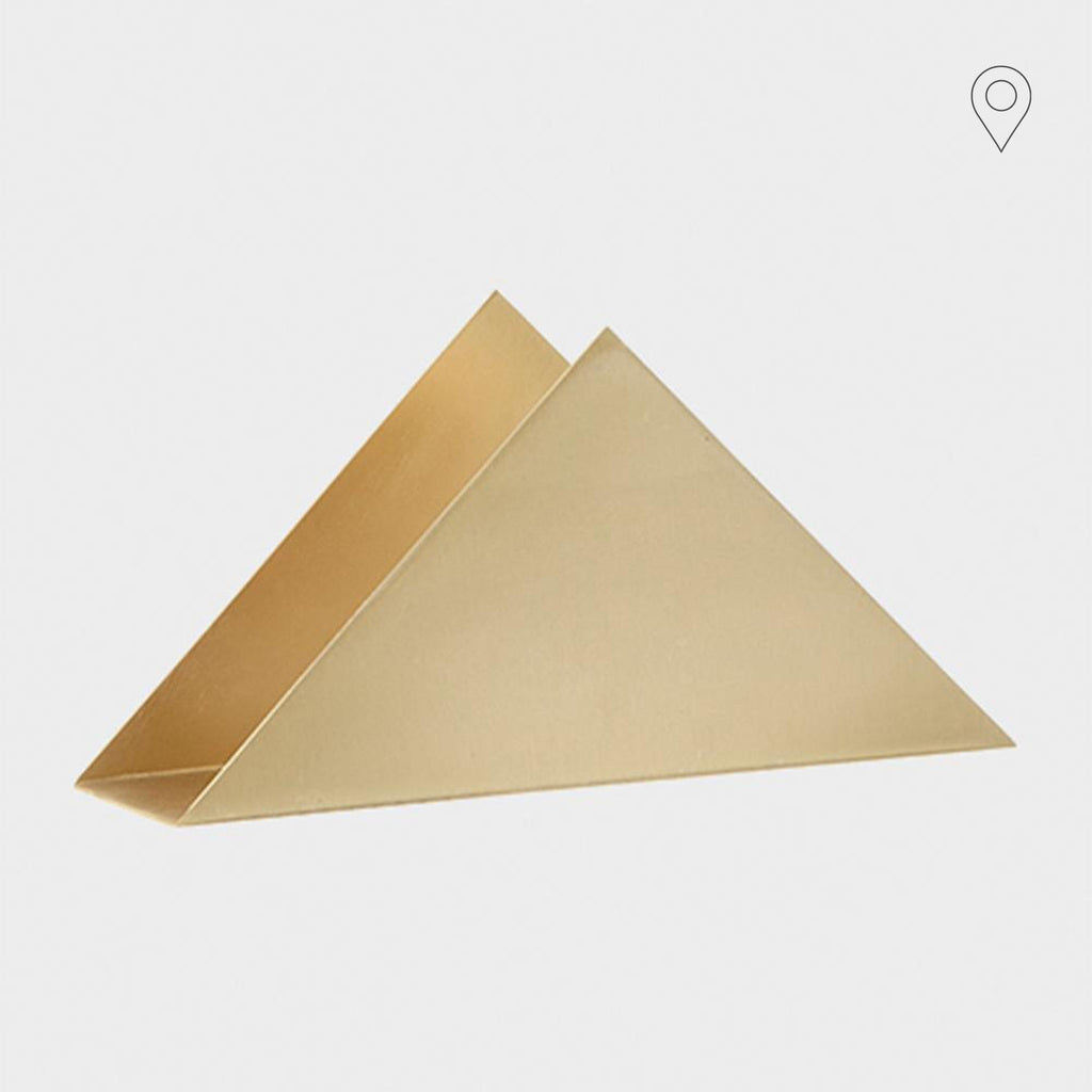Paper tray Triangle Stand, brass - Nordic Design Home