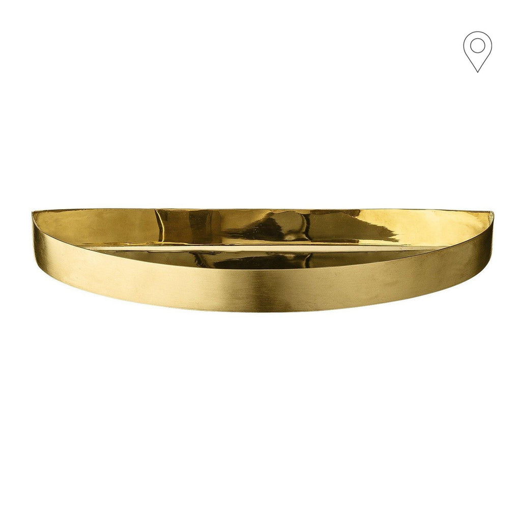 Tray Unity small crescent, brass