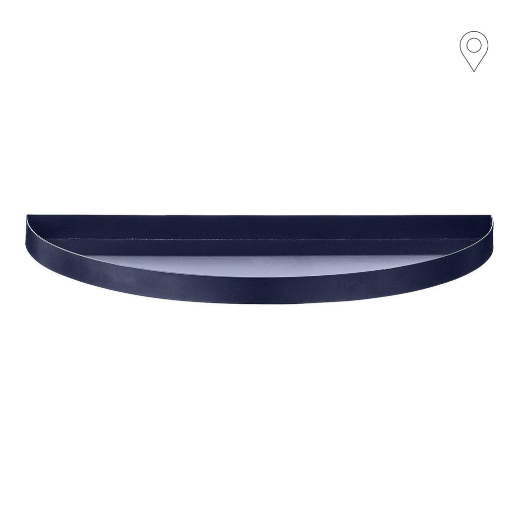 Tray Unity large crescent, blue