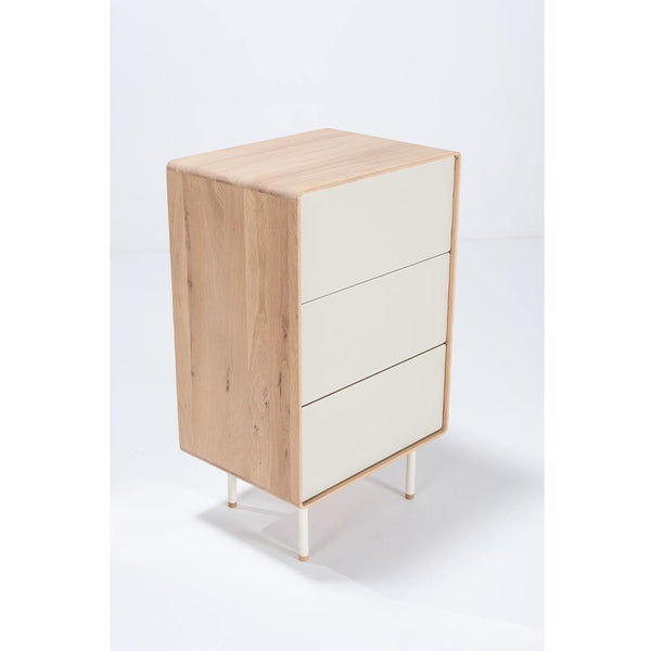 Chest of drawers Fina 60cm, beige - Nordic Design Home