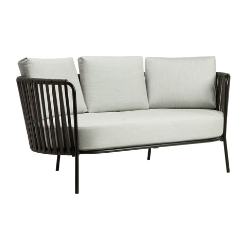 "Outdoor sofa Desiree Rope ""Nero"" double, different colors"
