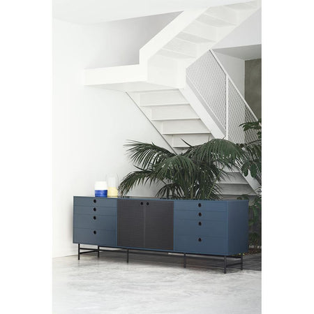 Chests of drawers Punto 212cm, matt blue