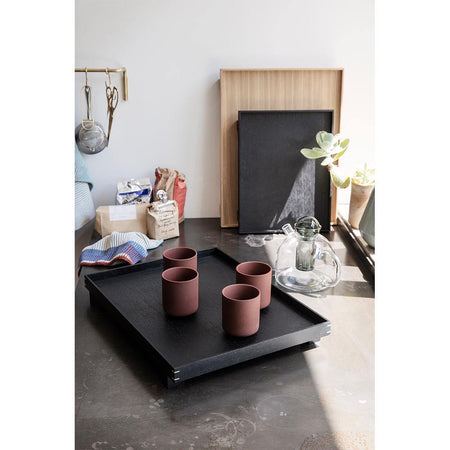 Wooden tray Bon, large 36x47cm, dark finished oak