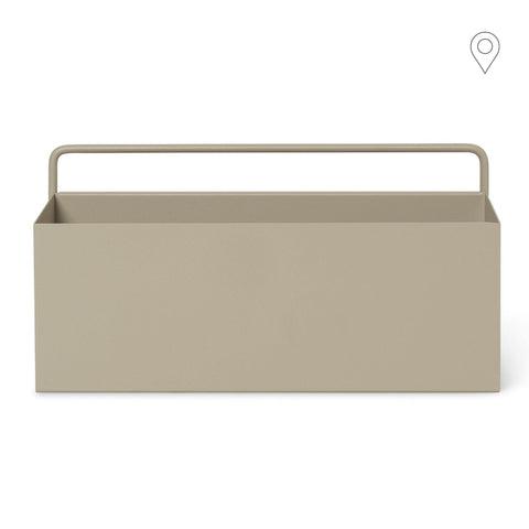 Wall box, square 30.5x15.6cm, different colors