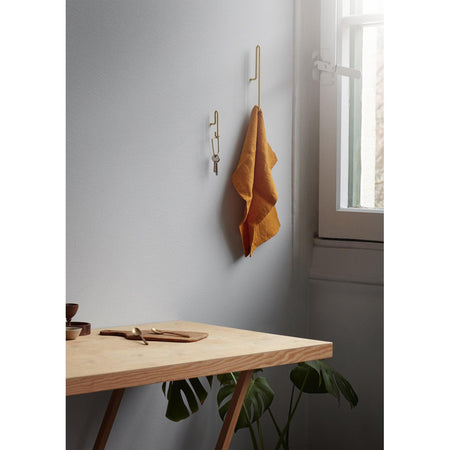 Nagi Wall Hook suur, messing
