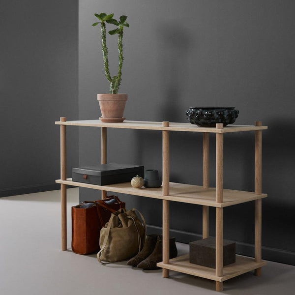 Shelving system Elevate, different variants 0, 1, 2, 3