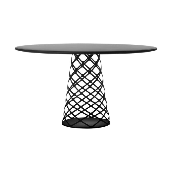 Dining table Aoyama, different surface and table leg finishes, Ø130cm - Nordic Design Home