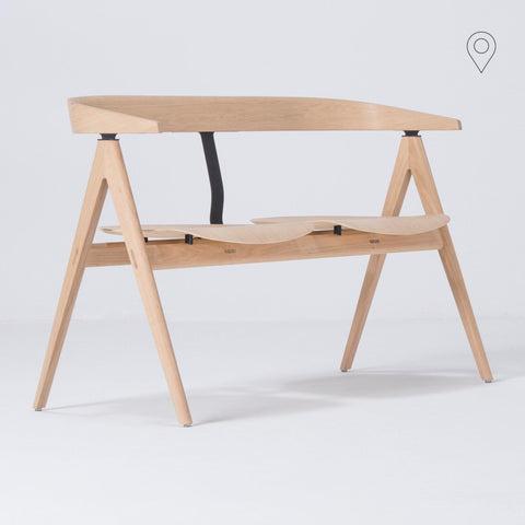 Pink Open with plywood seat, different wood finishes - Nordic Design Home