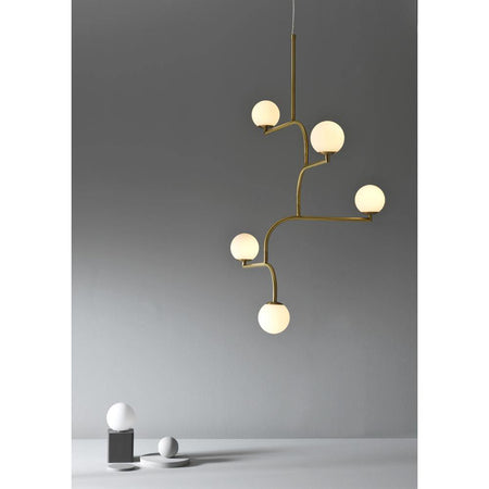 Ceiling lamp Mobil 100, brushed brass - Nordic Design Home