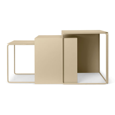 Side table Cluster, set of three, beige