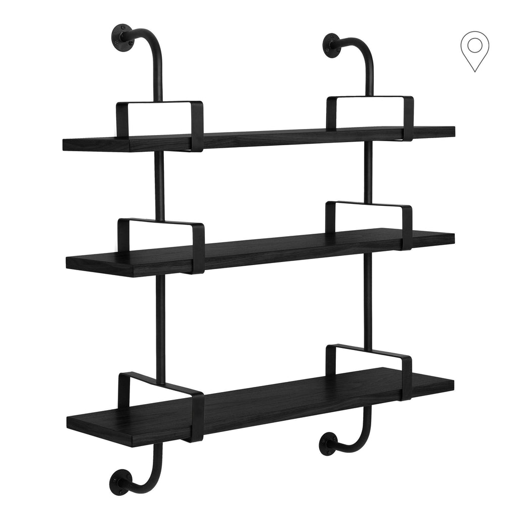 Shelf Démon with three shelves and two supports, different finishes and widths, 95cm / 155cm - Nordic Design Home