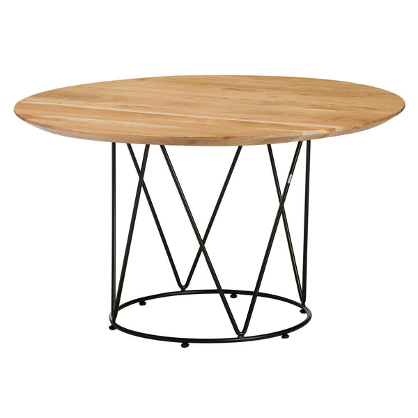 Dining table Desiree with acacia wood surface, different colors, Ø130x75cm