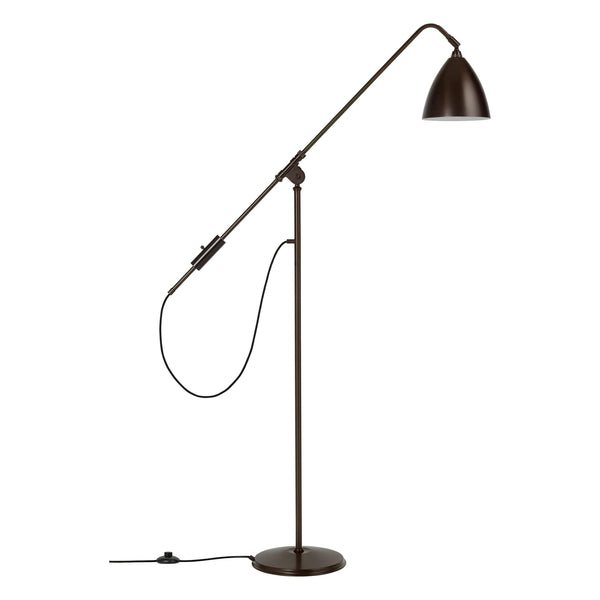 Floor lamp BL4, different leg and dome finishes