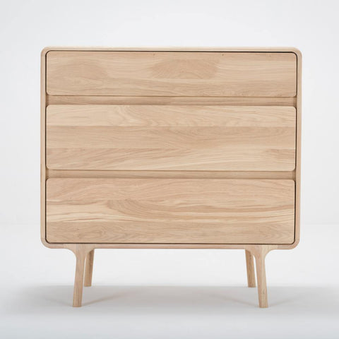 Chest of drawers Fawn, 90cm white oil