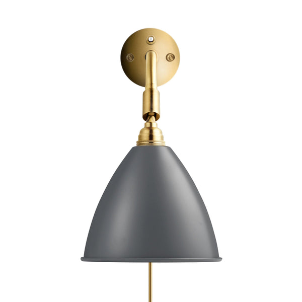 Wall lamp BL7, different stem and dome finishes - Nordic Design Home