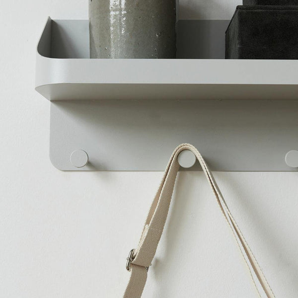 Pock hanger with shelf, gray