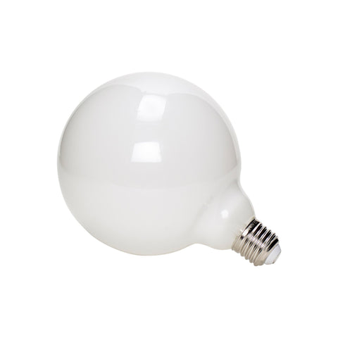 LED light bulb with white milky glass