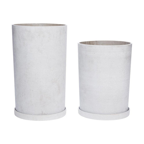 Flower pots Ariel, double set