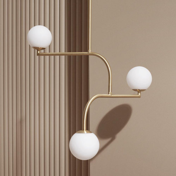 Ceiling lamp Mobil 70, brushed brass