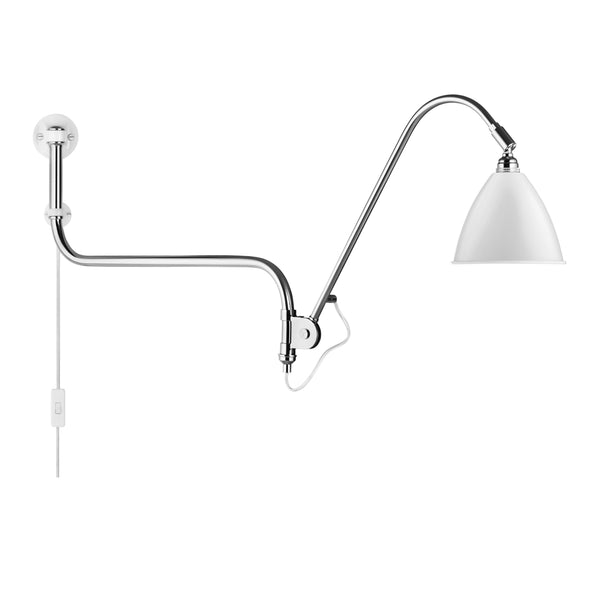 Wall lamp BL10, chrome / different colors - Nordic Design Home