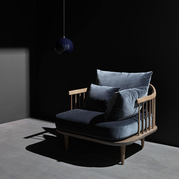 Armchair Fly SC1, various fabrics and wood finishes