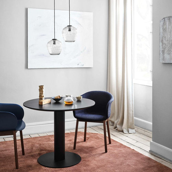 Dining table In Between SK11 Ø90cm, different metal and wood finishes