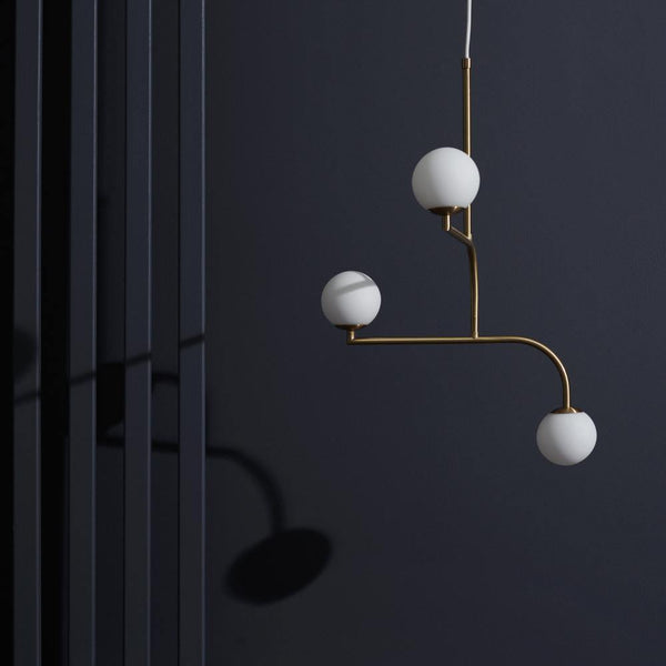 Ceiling lamp Mobil 70, brushed brass - Nordic Design Home