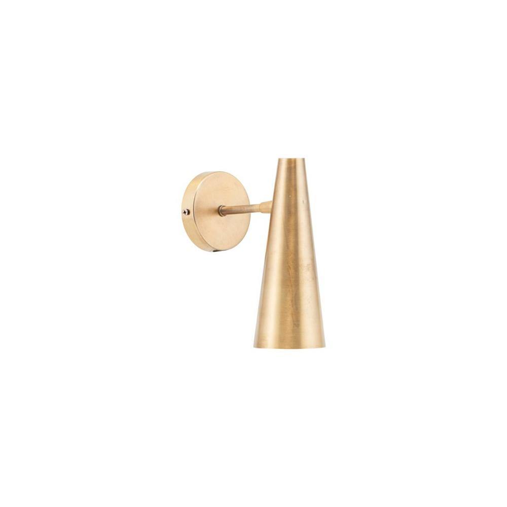 Wall lamp Precise, 21cm, brass