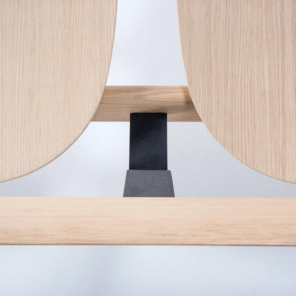 Bench Open with plywood seat, different wood finishes