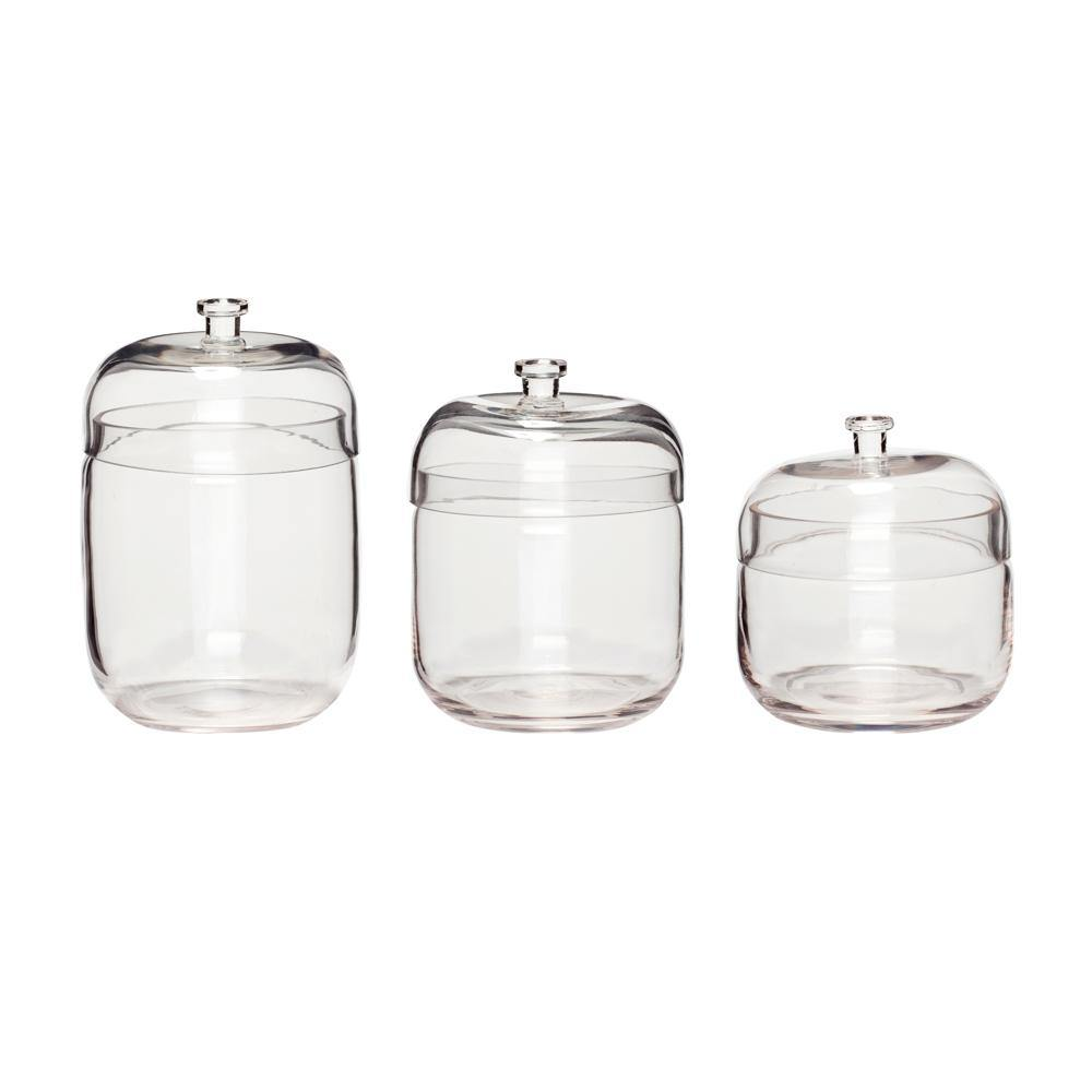 Storage jars Dexter, set of three Hübsch Accessory - Nordic Design Home