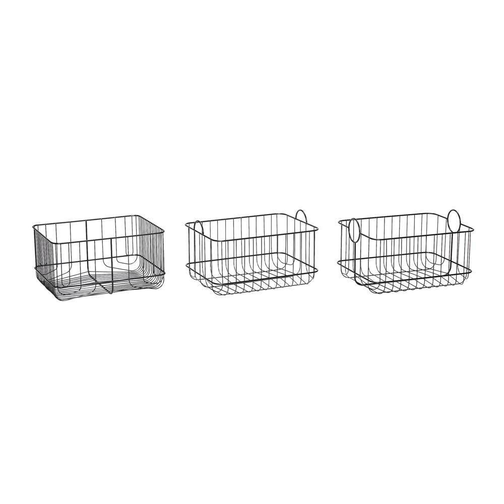 Baskets Clive, set of three Hübsch Accessory - Nordic Design Home
