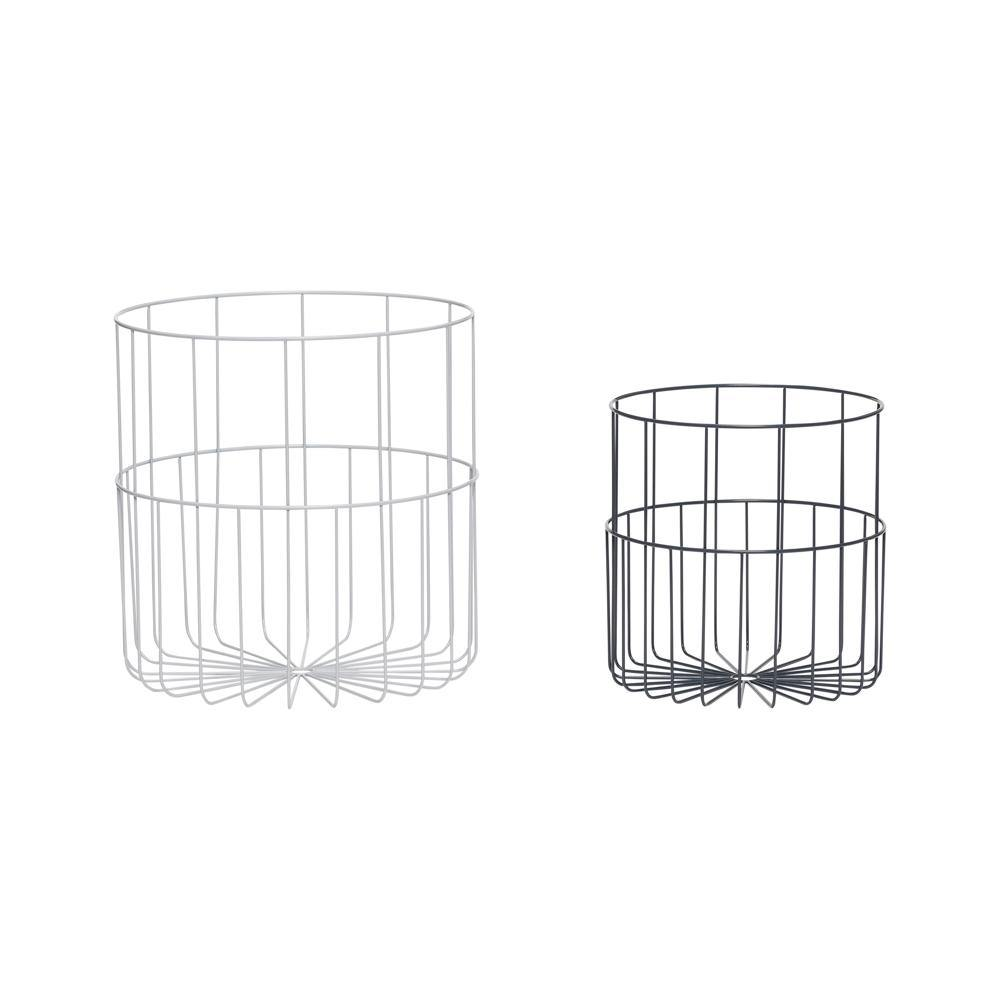Baskets Alba, double set Hübsch Accessory - Nordic Design Home